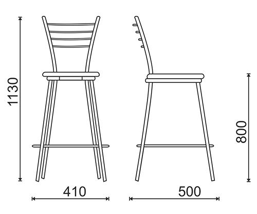 Барный стул своими руками чертежи